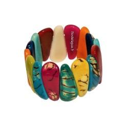 Bracelet Mindo multicolore  en tagua