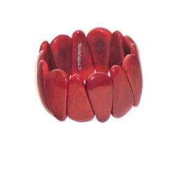 Bracelet Mindo rouge en noix de tagua