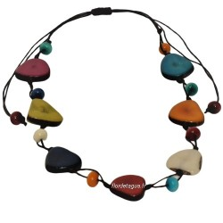 collier Mindo Simple multicolore en ivoire vegetal