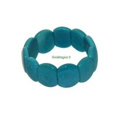 Bracelet Oloncito Turquoise en Ivoire Végétal