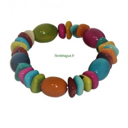 Bracelet Bahia perles ovales en ivoire végétal tagua