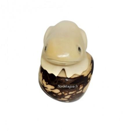 Figurine grenouille en tagua de face