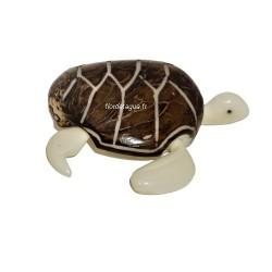 Figurine Tortue marine coté droit en ivoire végétal
