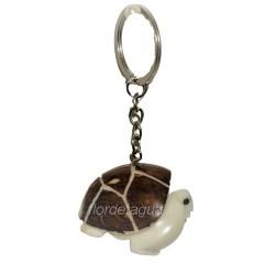 Porte-clés Tortue de Terre en tagua coté droit