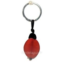 Porte-clés Coccinelle en corozo vue de dessous