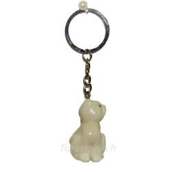 Porte-clés Chat coté droit en ivoire