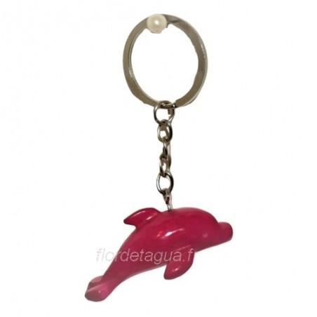 Porte clés Dauphin fuchsia coté droit