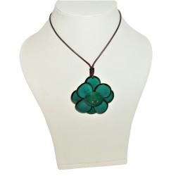 pendentif Flor de Manabi en tagua couleur verte