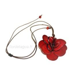 Collier Flor de Tagua Rouge en tagua