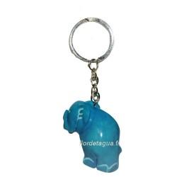 Porte clés Éléphant turquoise coté gauche