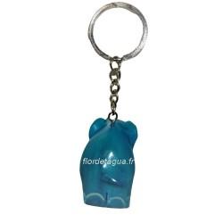 Porte clés Éléphant turquoise de dos