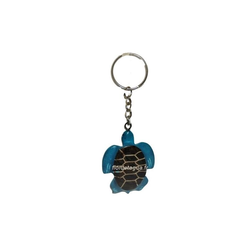 Porte clés Tortue Marine couleur turquoise vue de dessus