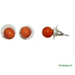 Boucles d'Oreilles Dési orange en ivoire végétal