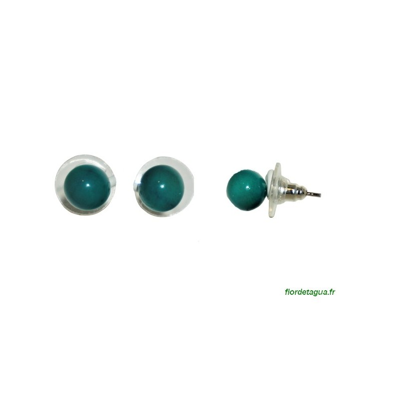 Boucles d'Oreilles Dési vert émeraude