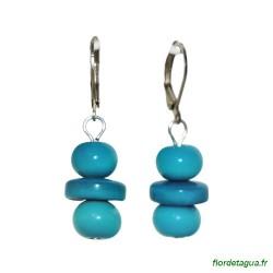 Boucles d'Oreilles Béatriz turquoise