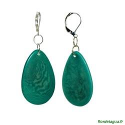 Boucles d'Oreilles Minca  Vert Émeraude en tagua