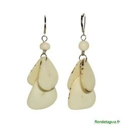 Boucles d'oreilles Mindo ivoire en ivoire végétal