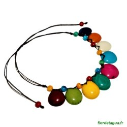 collier Luna multicolore en tagua