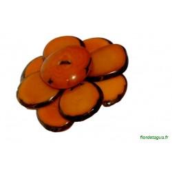 Broche Flor de Manabi orange 1