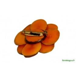 Broche Flor de Manabi orange recto 2