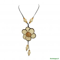 Sautoir Flor de Manabi Ivoire 1