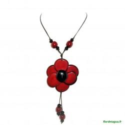 Sautoir Flor de Manabi Rouge 1