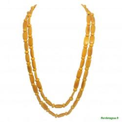 Sautoir Gala jaune en ivoire végétal 1