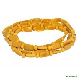 Sautoir Gala jaune 3