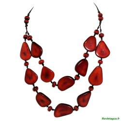 Collier Mindo tagua Rouge 1