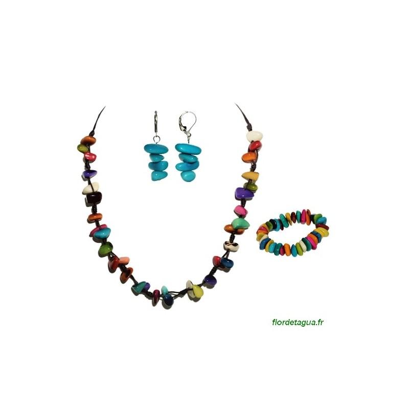 Offre Mozaïc multicolore en Tagua