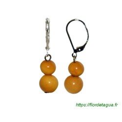 Boucles d'oreilles Isabela orange en tagua