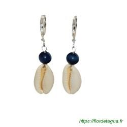 Boucles d'Oreilles Sumalee blue marine 1