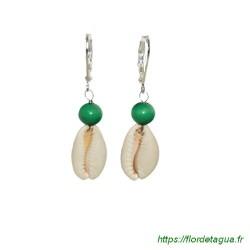 Boucles d'Oreilles Sumalee Vert Emeraude 1