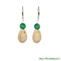 Boucles d'Oreilles Sumalee Vert Emeraude 2