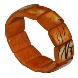 Bracelet Inka Orange en graines de palmier